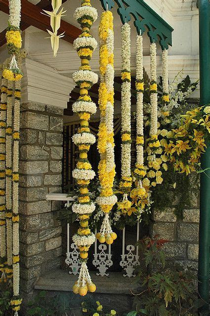 Traditional South Indian wedding decorations with flowers