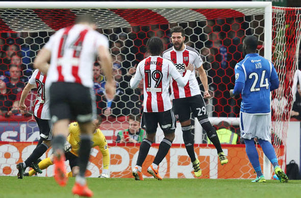 Brentford hammered Eastleigh 5-1