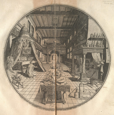 Heinrich Khunrath 1609 alchemy laboratory engraving