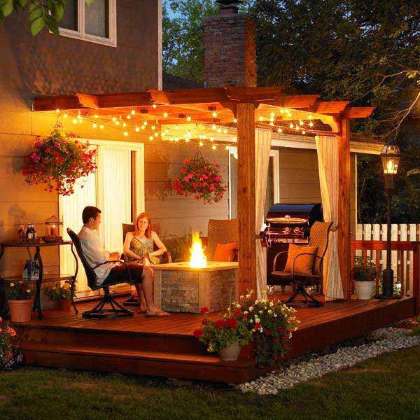26 Breathtaking Yard and Patio String lighting Ideas Will ...