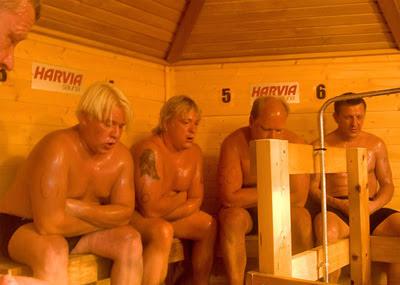 Pessoas na Sauna