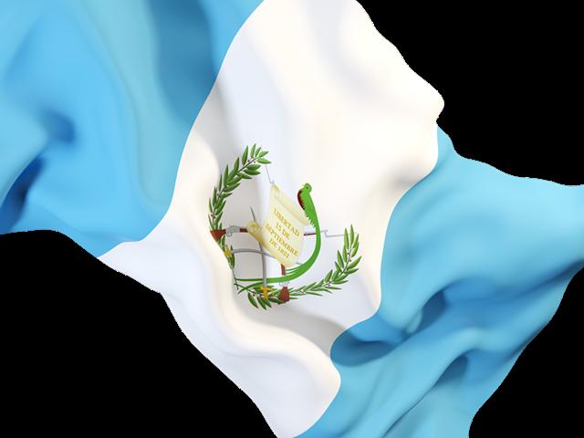 Waving Flag Closeup Illustration Of Flag Of Guatemala