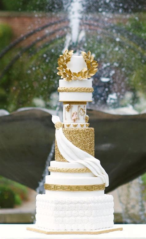Grecian wedding cake by Cake Couture NI photography by Des