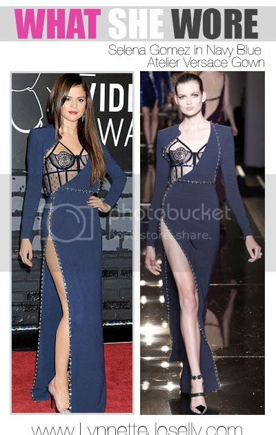 lynnette joselly what she wore selena gomez in navy blue