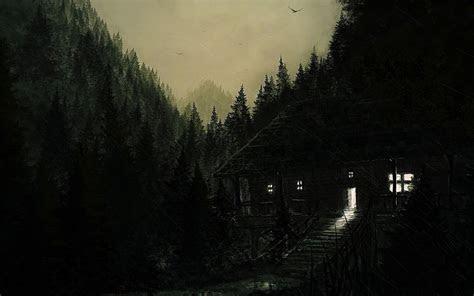 gloomy jenseitigen ort mit tollen huette wo geister leben