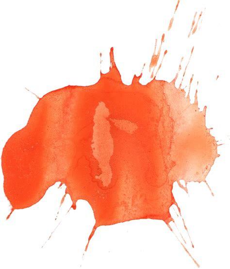 orange watercolor splatter png transparent onlygfxcom