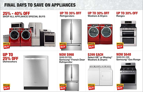 The Appliance Order | An Eclectic Mind