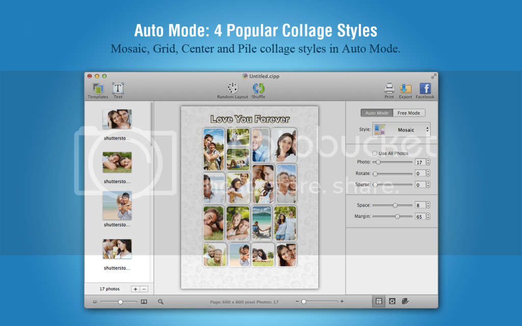 CollageIt 3 Pro for Mac Styles