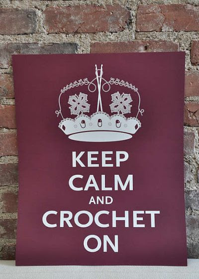 keep calm and crochet on 400x560 Friday Fun: Roundup of Crochet Posters