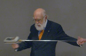 English: Skepticism educator James Randi at a ...