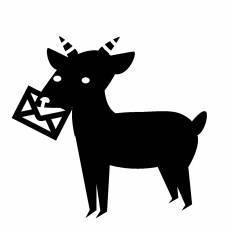 黒ヤギシルエット イラストの無料ダウンロードサイトシルエットac