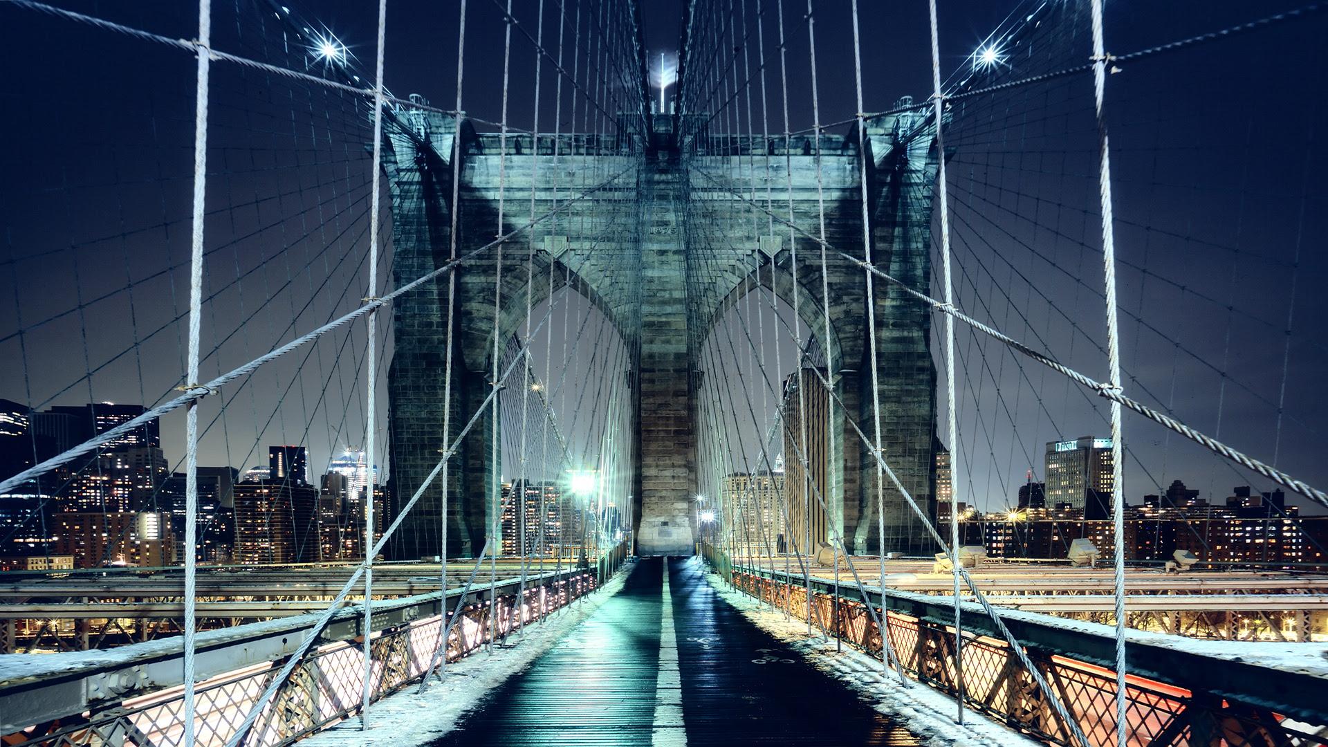Brooklyn Bridge Walkway, New York City [1920x1080]