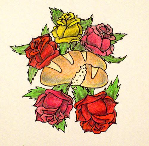 Bread Roses Literarytattoos