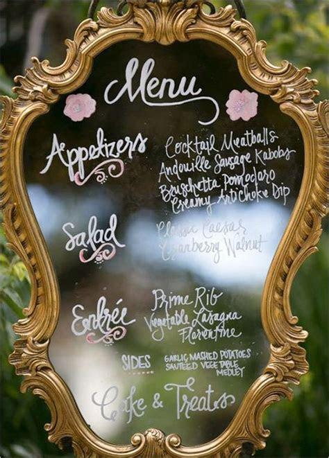 27 Vintage Mirror Wedding Sign Decoration Ideas