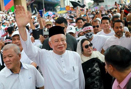 Anti-ICERD Rally - Najib and Rosmah