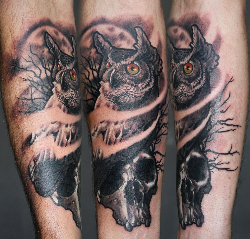 Owl Skull Tattoos Meaning 42019 Loadtve