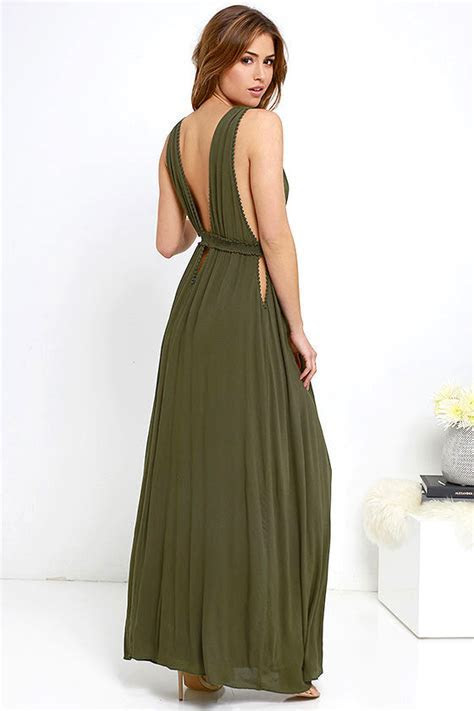 Maxi Dress   Olive Green Dress   Sleeveless Dress   $76.00