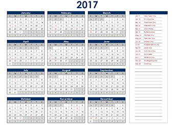 2017 Calendar With Australia Holidays - FREE Printable Australia ...