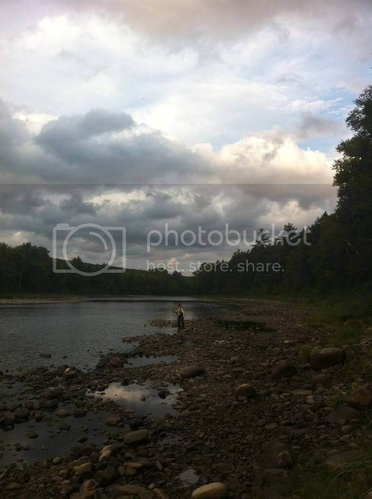Atlantic Salmon Fishing on The Little Southwest Miramichi river.