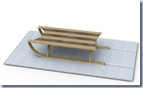 Sled Coffee Table and Rug