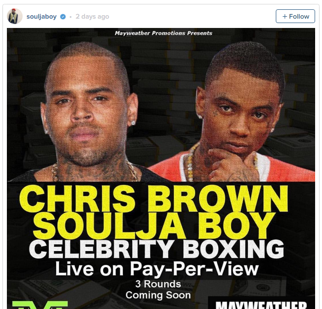 SCORE SETTLED Chris Brown and Soulja Boy agree to boxing match – with Mike  Tyson and Floyd Mayweather to train hip hop rivals after long feud | B13  Peer ...