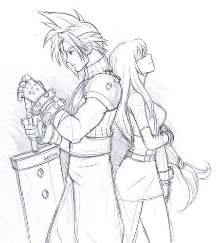 FF7 Cloud and Tifa by gndagnor on DeviantArt