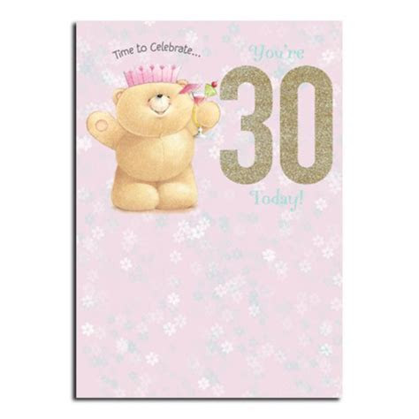 30th Birthday Forever Friends Card   Forever Friends