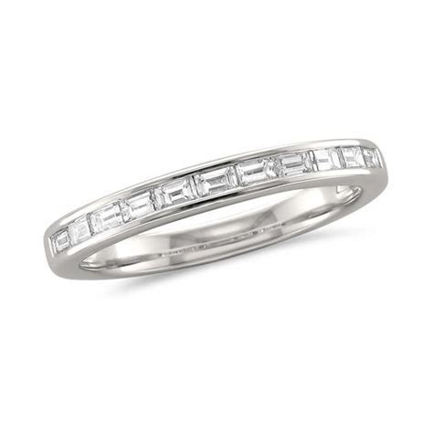 1/2 CT. T.W. Baguette Diamond Wedding Band in Platinum (H
