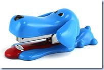 Blue Puppy Stapler