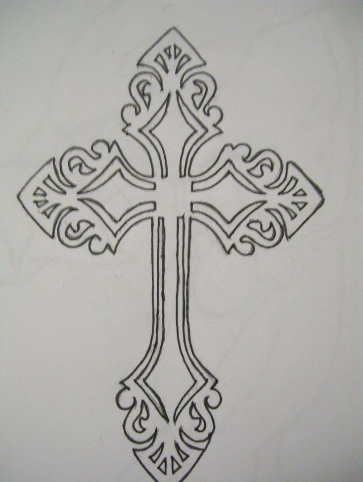 Cross Outline Tattoo Designs Celtic Cross Cross Tattoo Designs