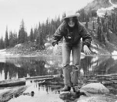 Mary at 15  -- Eva Lake, Mt. Revelstoke