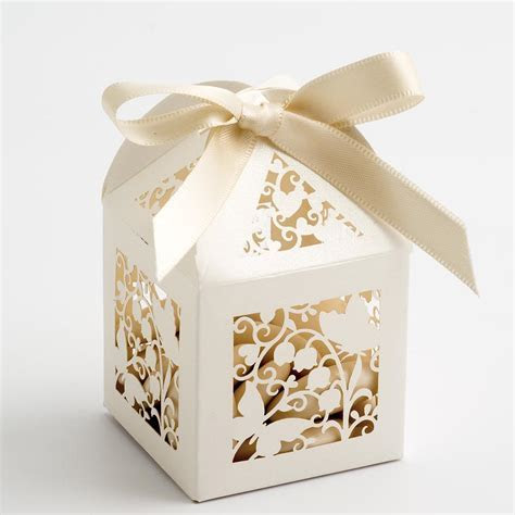Ivory Filigree Butterfly Favour Boxes at Favour This