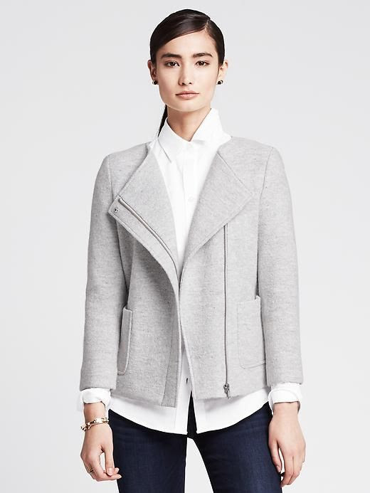 Banana Republic Boxy Zip Blazer