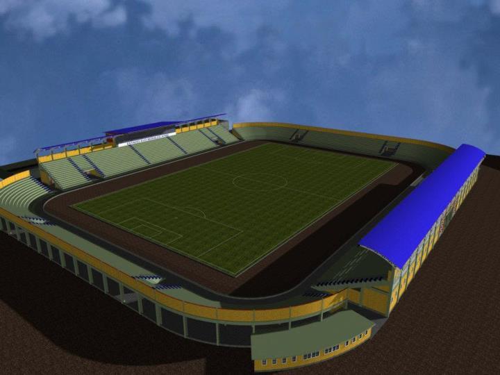 Nuevo Estadio de Villazón en modelo 3D