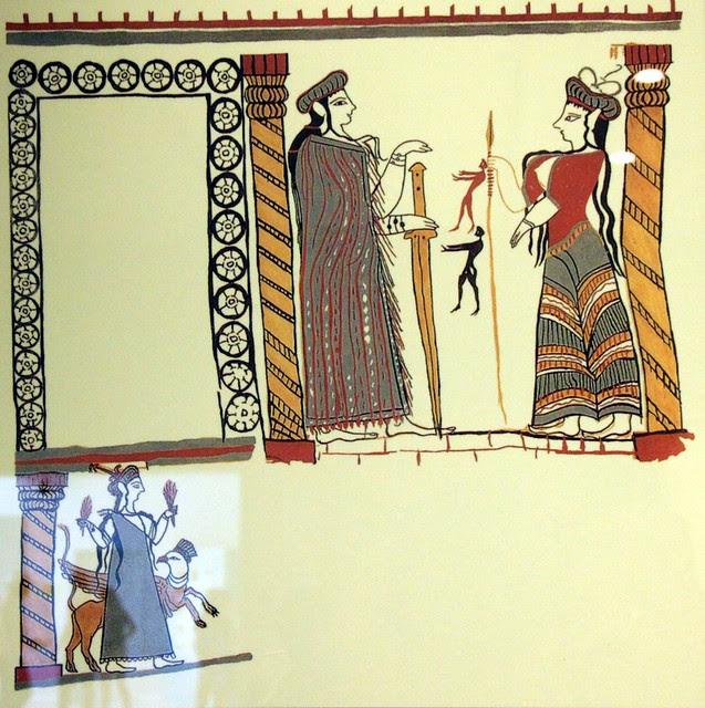 Fresco from Mycenae