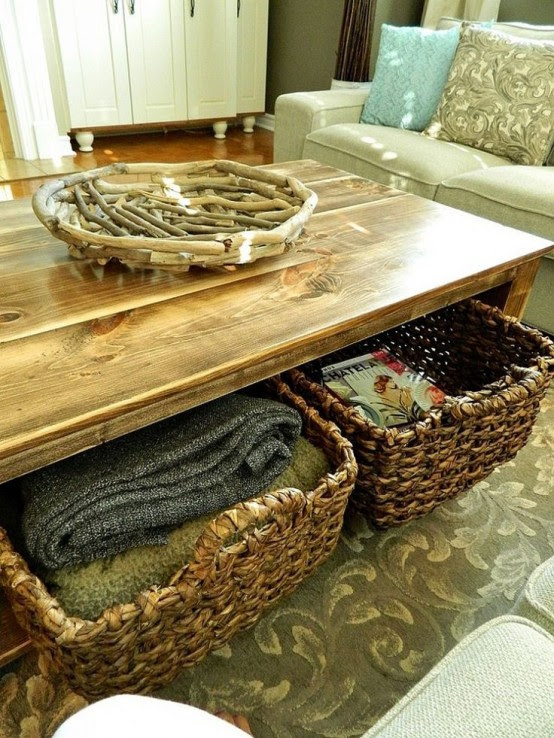 Storage Space Under The Coffee Table: 27 Ideas - Interior ...