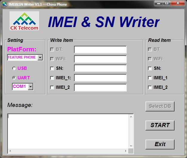 Imei And SN Writer Tool