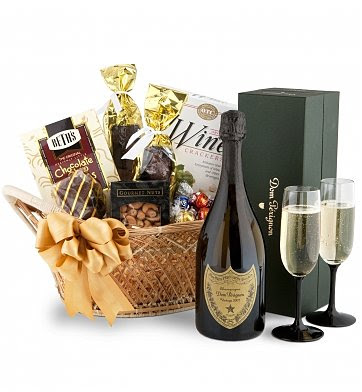 Wine Baskets: Dom Perignon Champagne Basket
