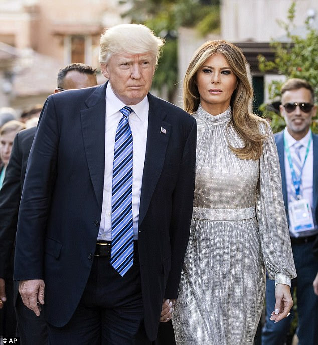 Washington insiders say Melania is a reticent woman who reportedly never wanted her husband Trump (left) to run for president