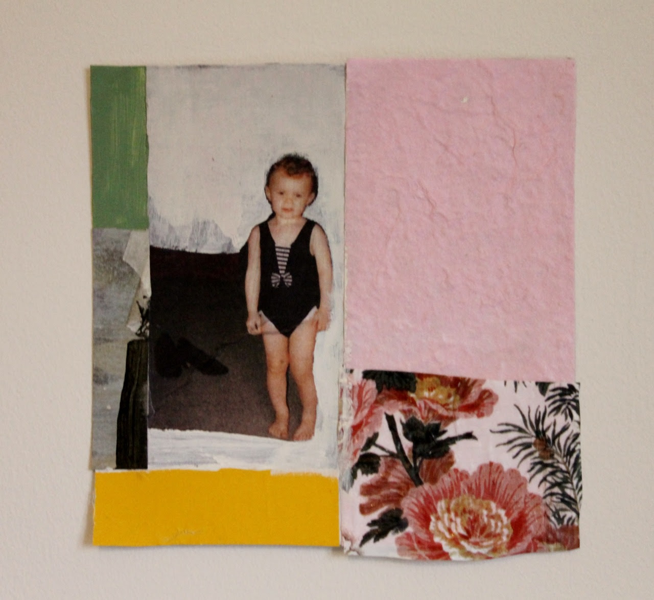 Collage inspired by Jimmie James >http://jimmiejames.tumblr.com/ Frances L Prendergast mixed media 2014