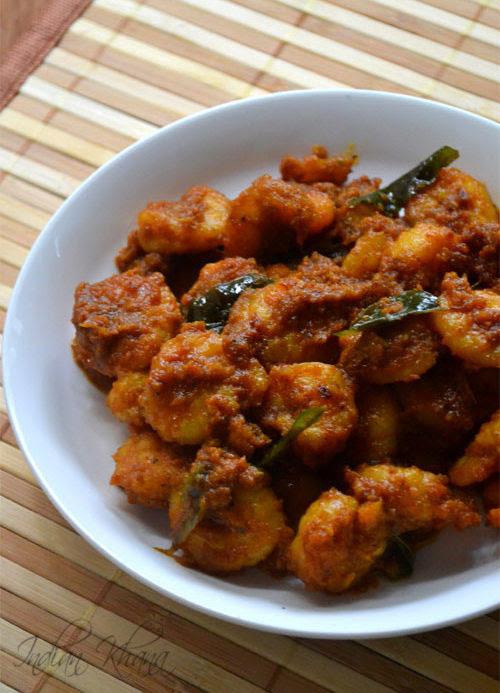 Nadan Chemmeen Varuthathu Kerala Style Prawn Fry