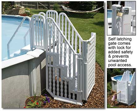 Easy Above Ground Swimming Pool Steps Entry System by BlueWave