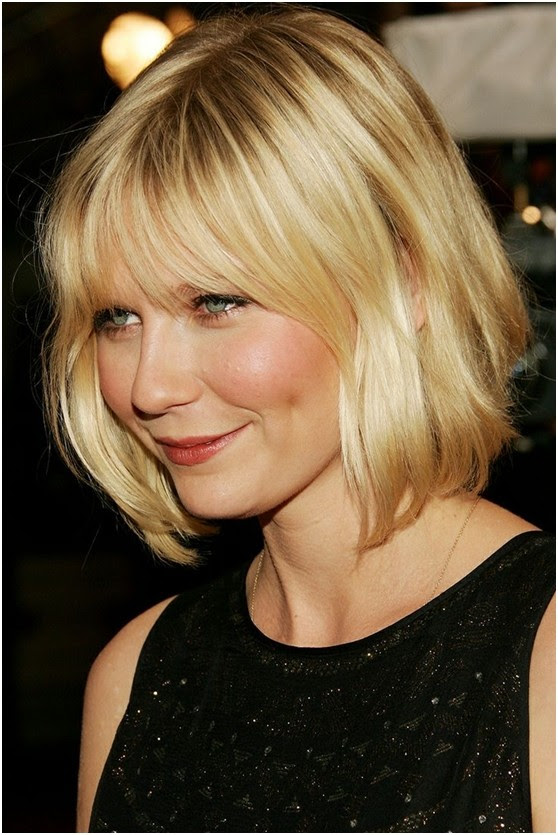 Medium Length Bob Hairstyle Short Haircuts For Round Face Via