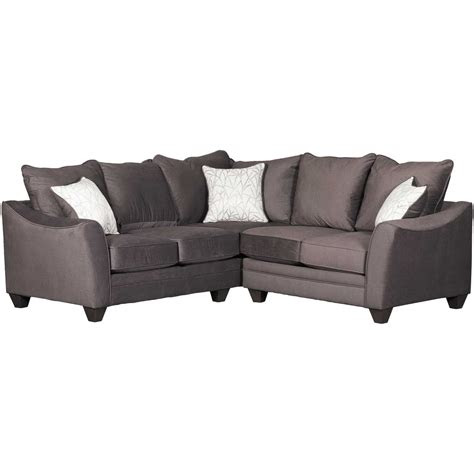 flannel seal  piece sectional  laf sofa