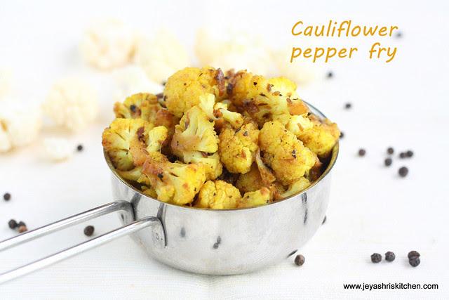 Cauliflower pepper fry 3
