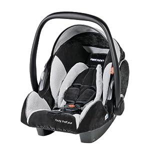 RECARO 5514.21086.66 - Young Profi plus - Autokindersitz/Babyschale Gruppe 0/0+ bis 13 kg/ab der Geburt bis ca. 15 Monate, Farbe Microfibre Black/Silver