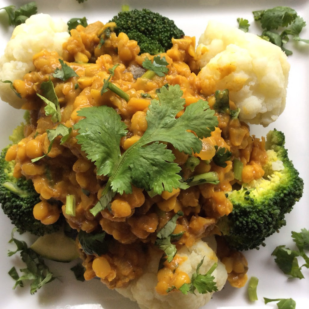 Nutrition Savvy  Spicy Red Lentil  Yellow Split Pea Stew with Eggplant