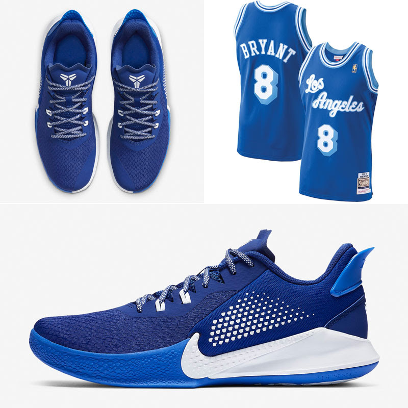 Nike Mamba Fury Royal Blue Kobe Jersey Match Sneakerfits Com