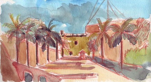 USK: Near Plaza Espana, using warm colored line, Santo Domingo, Dominican Republic