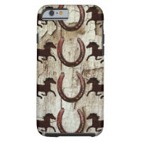 Horses Horseshoes on Barn Wood iPhone 6 Case